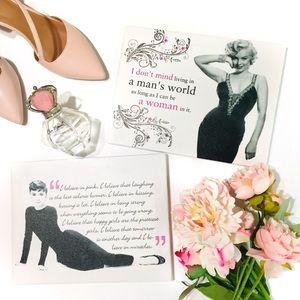 Inspirational Quotes Wall Art (Audrey and Marilyn)